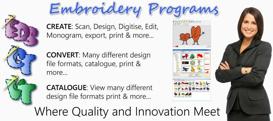 Free embroidery software, embroidery design viewer, embroidery design converter
